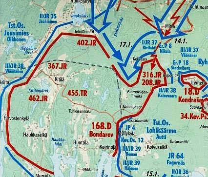 Положение 168-й дивизии на середину января 1940 г.